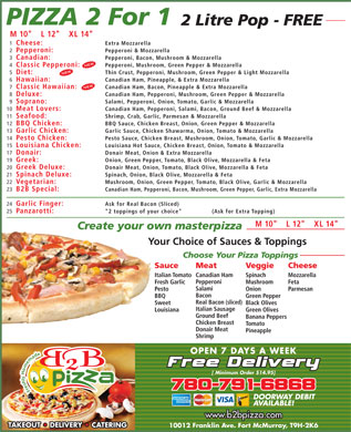 B2B Pizza (780-791-6868) - Display Ad