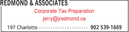 Redmond & Associates (902-539-1669) - Annonce illustrée - Corporate Tax Preparation
