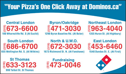 Domino's Pizza (519-673-6600) - Display Ad