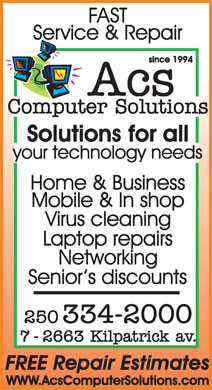 A C S Computer Solutions (250-334-2000) - Display Ad