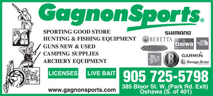 Gagnon Sports (905-725-5798) - Display Ad