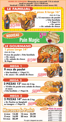 Pizza Mega (514-522-3522) - Display Ad