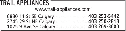 Trail Appliances (403-253-5442) - Display Ad - www.trail-appliances.com