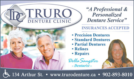 Truro Denture Clinic (902-893-8010) - Display Ad - 902-893-8010