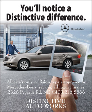 Distinctive Auto Works (403-216-8888) - Display Ad