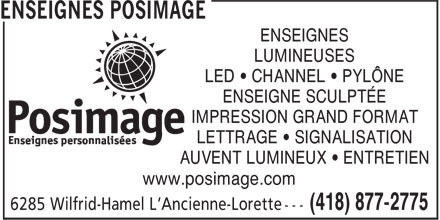 Posimage Inc (418-877-2775) - Display Ad