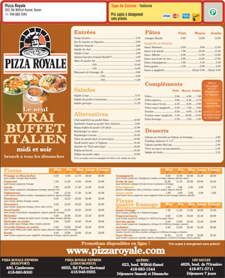 Pizza Royale (418-683-1544) - Display Ad