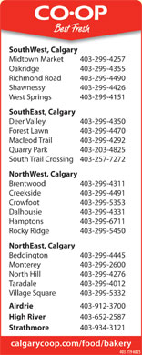 Calgary Co-op (403-219-6025) - Display Ad