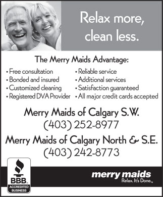 Merry Maids Of Calgary SE (403-242-8773) - Annonce illustr&eacute;e