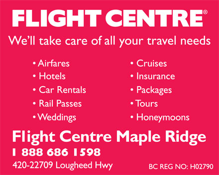 Flight Centre (1-888-686-1598) - Display Ad