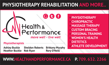 Health & Performance (709-632-2266) - Display Ad