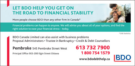 BDO Canada Limited (613-732-7900) - Display Ad