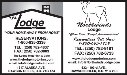 The Lodge Motor Inn (250-782-4837) - Display Ad