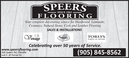 Speers Flooring Ltd (905-845-8562) - Annonce illustrée - Your complete decorating source for Hardwood, Laminate, Ceramics, Natural Stone, Cork and Leather Flooring