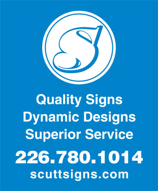 Scutt Signs (226-887-0205) - Display Ad - 226.780.1014
