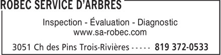 Service D'Arbres Robec Inc (819-372-0533) - Annonce illustr&eacute;e