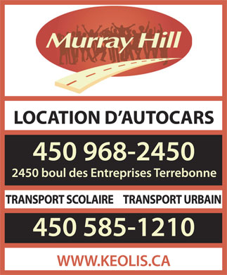 Murray Hill (450-968-2450) - Display Ad