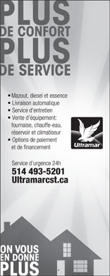 Ultramar (514-493-5201) - Display Ad
