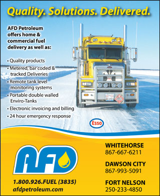 AFD Petroleum Ltd (867-667-6211) - Display Ad