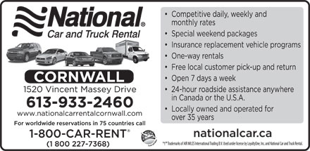 National Car and Truck Rental (613-933-2460) - Display Ad