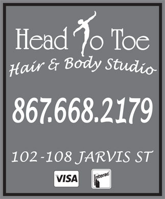 Head to Toe Hair & Body Studio (867-668-2179) - Annonce illustrée