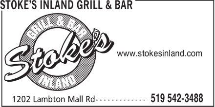 Stoke's Inland Grill & Bar (226-313-2157) - Display Ad - www.stokesinland.com
