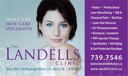 The Landells Clinic Of Cosmetic Dermatology (709-700-0896) - Display Ad