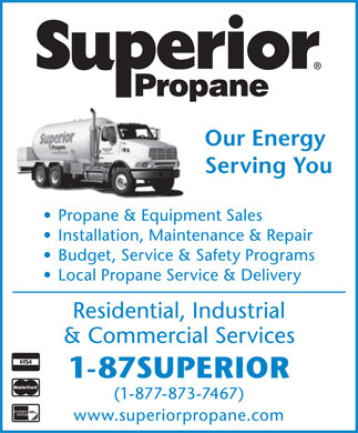 Superior Propane (1-877-873-7467) - Display Ad