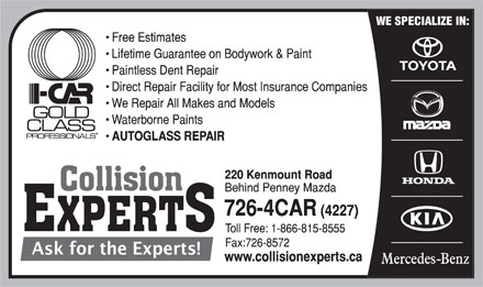 Collision Experts (709-726-4227) - Annonce illustrée