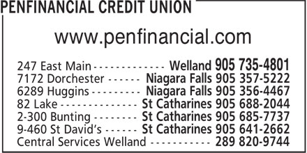 Penfinancial Credit Union (905-735-4801) - Display Ad - www.penfinancial.com www.penfinancial.com