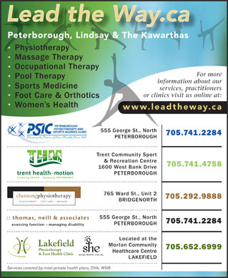Peterborough Physiotherapy & Sports Injuries Clinic (705-243-3652) - Display Ad