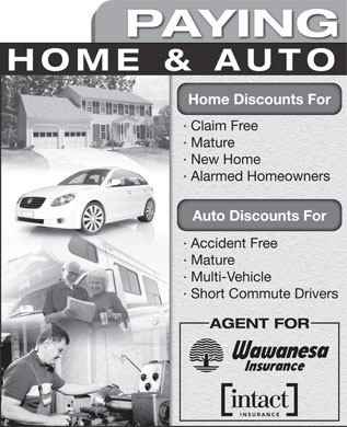 Northgate Insurance Centre (403-234-1933) - Annonce illustrée - PAYING HOME & AUTO Home Discounts For · Claim Free · Mature · New Home · Alarmed Homeowners Auto Discounts For · Accident Free · Mature · Multi-Vehicle · Short Commute Drivers AGENT FOR