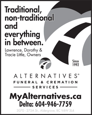 Personal Alternative Funeral Services (733-ALTERNATIVESFUNERALCREMATIONSERVICES) - Annonce illustrée