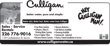 Culligan Water (226-776-9016) - Display Ad
