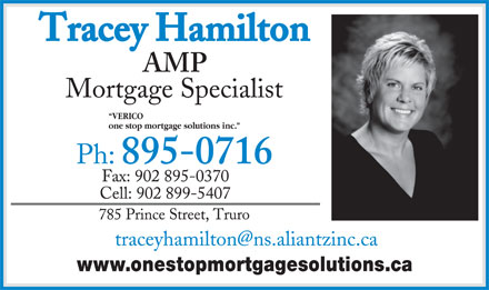 Tracey Hamilton (902-895-0716) - Annonce illustrée - VERICO one stop mortgage solutions inc. www.onestopmortgagesolutions.ca VERICO one stop mortgage solutions inc. www.onestopmortgagesolutions.ca