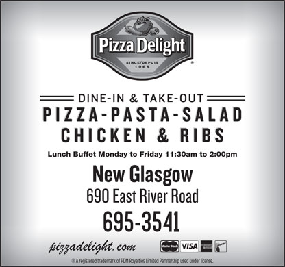 Pizza Delight (902-928-2222) - Display Ad - Lunch Buffet Monday to Friday 11:30am to 2:00pm Lunch Buffet Monday to Friday 11:30am to 2:00pm