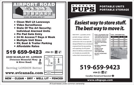 Airport Road Self Storage (519-659-9423) - Display Ad
