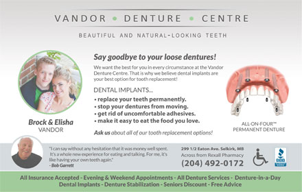 Vandor Denture Centre (204-482-6698) - Display Ad