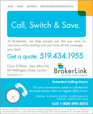 BrokerLink (519-434-1955) - Display Ad
