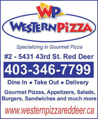 Western Pizza (403-346-7799) - Display Ad