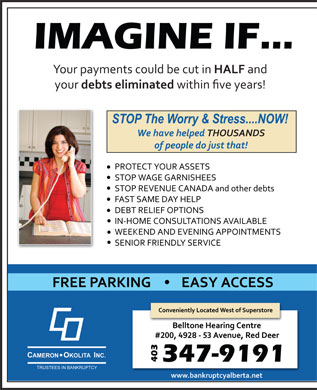 Cameron-Okolita Inc (403-406-0235) - Display Ad