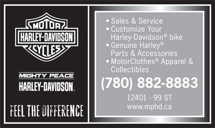 Mighty Peace Harley-Davidson (780-882-8883) - Display Ad