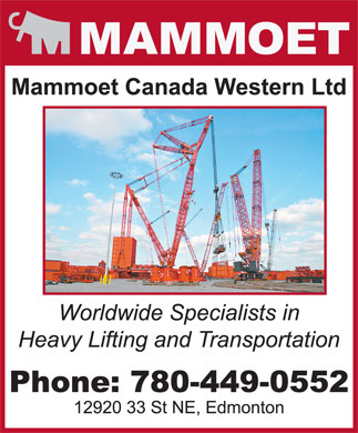 Mammoet (780-449-0552) - Display Ad